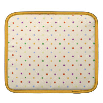 80s petite rainbow girly cute polka dots pattern iPad sleeve