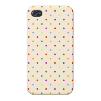 80s petite rainbow girly cute polka dots pattern iPhone 4/4S cases