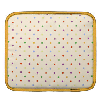 80s petite rainbow girly cute polka dots pattern sleeves for iPads