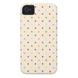 80s petite rainbow multi-color polka dots pattern iPhone 4 covers