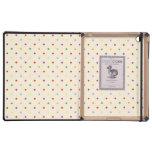 80s petite rainbow multi-color polka dots pattern iPad folio cases