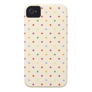 80s petite rainbow multi-color polka dots pattern iPhone 4 Case-Mate case