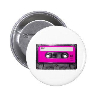 80's Pink Label Cassette Button