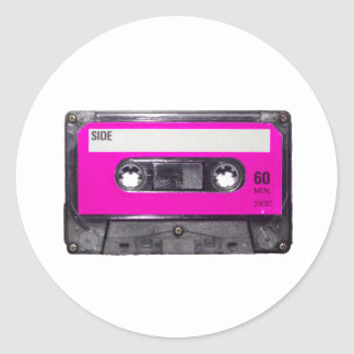 80's Pink Label Cassette Stickers