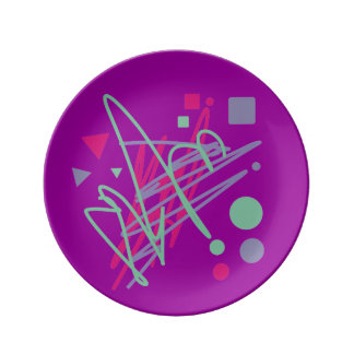 80s plate design eighties vintage splash medley