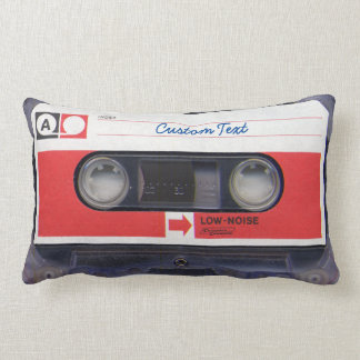 80s Pop Culture Personalized Cassette Tape Lumbar Pillow