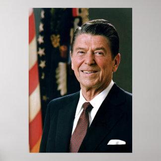 80s presidente retro Reagan Póster