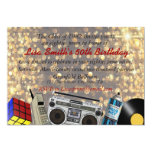 80's Prom Celebration 5x7 Paper Invitation Card
