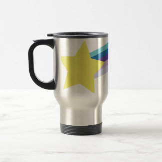 80s rainbow 15 oz stainless steel travel mug