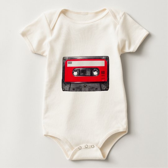 80's Red Label Cassette Baby Bodysuit