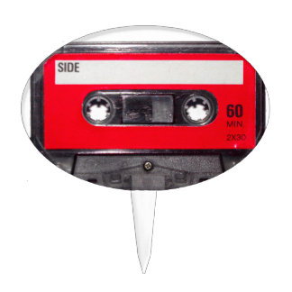 80's Red Label Cassette Cake Pick