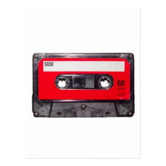 80's Red Label Cassette Postcard