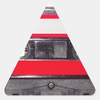 80's Red Label Cassette Triangle Sticker