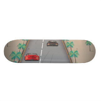 80s Retro Arcade Race Skateboard Deck