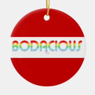 80s Retro Bodacious Christmas Ornament