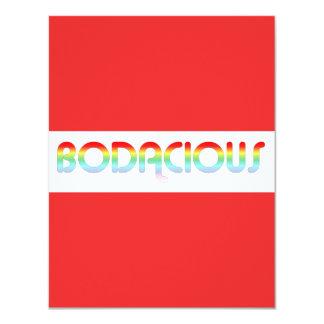 80s Retro Bodacious Custom Invitations