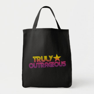 80s Retro Cartoon Truly outrageous Tote Bags