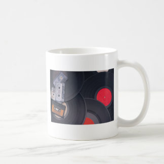80's Retro Cassette Tapes and Vinyl Records Coffee Mug
