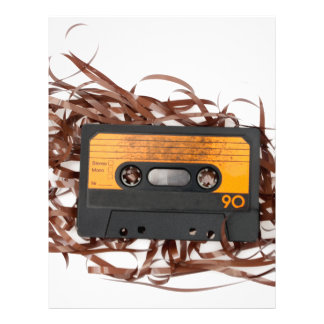 80's Retro Design - Audio Cassette Tape Letterhead