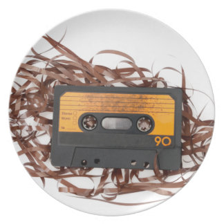 80's Retro Design - Audio Cassette Tape Melamine Plate