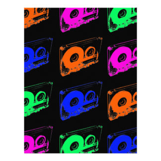 80's Retro Design - Audio Cassette Tapes Letterhead