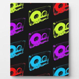 80's Retro Design - Audio Cassette Tapes Plaque