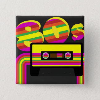 80s Retro Party Pinback Button