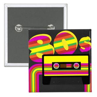 80s Retro Party Pinback Button