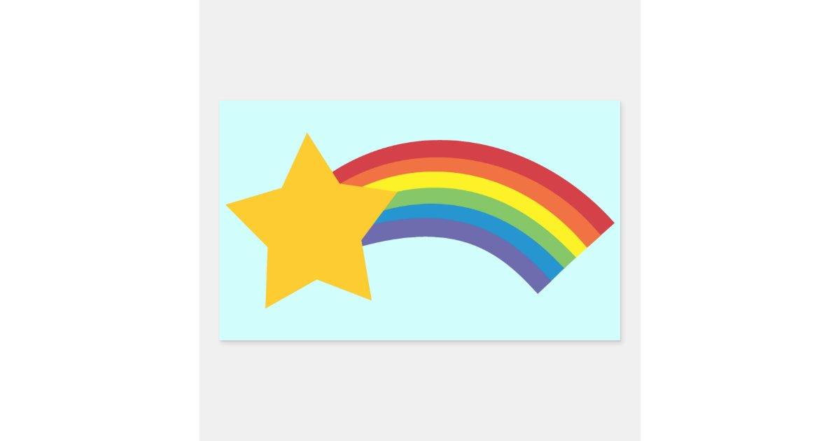 80 S Retro Pop Rainbow Shooting Star Stickers Zazzle Com