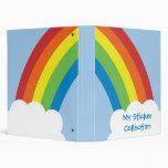 80's Retro Rainbow Avery Binder
