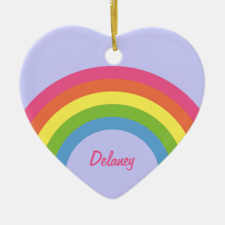 80's Retro Rainbow Heart Ornament