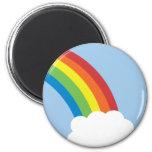 80's Retro Rainbow Magnet