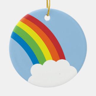 80's Retro Rainbow Ornament