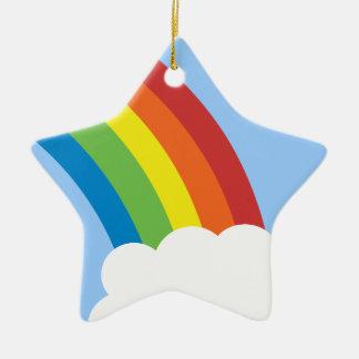 80's Retro Rainbow Star-Shaped Ornament