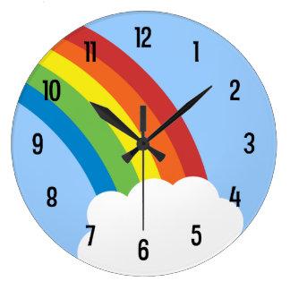 80's Retro Rainbow Wall Clock