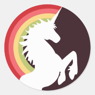 80's Retro Unicorn and Rainbow Stickers