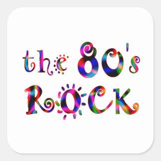 80s Rock Square Sticker