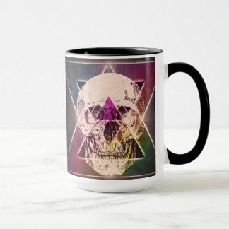 80's skull mug