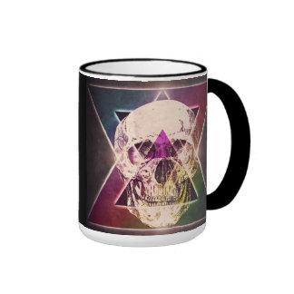80's skull ringer mug