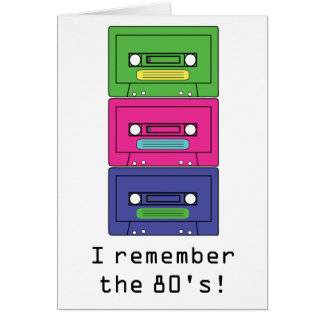 80's style greeting card