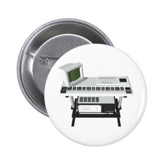 80's Style Sampler Keyboard: 3D Model: Pinback Buttons