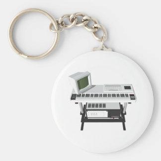 80's Style Sampler Keyboard: 3D Model: Keychain