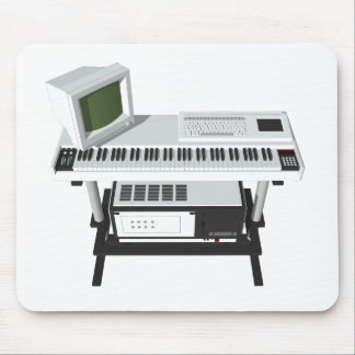 80's Style Sampler Keyboard: 3D Model: Mouse Pad
