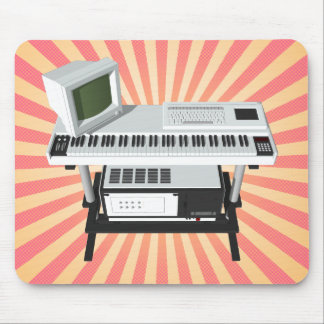 80's Style Sampler Keyboard: 3D Model: Mousepad