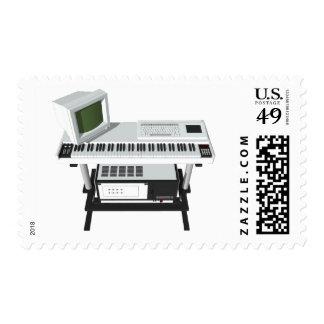 80's Style Sampler Keyboard: 3D Model: Postage
