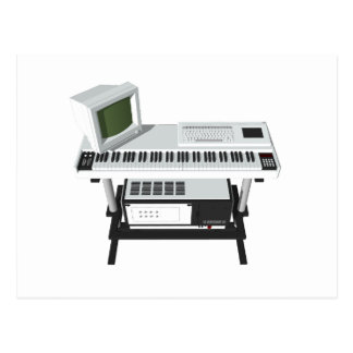 80's Style Sampler Keyboard: 3D Model: Postcard