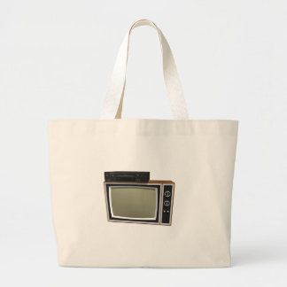 80's Style TV and VCR: 3D Model Canvas Bag