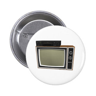 80's Style TV and VCR: 3D Model Button