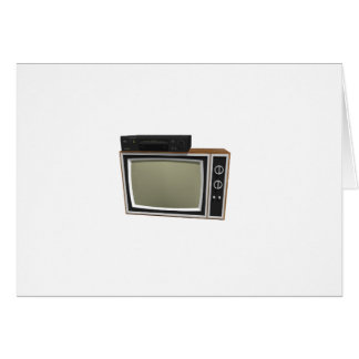 80's Style TV and VCR: 3D Model Card