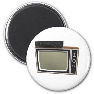 80's Style TV and VCR: 3D Model Fridge Magnet
